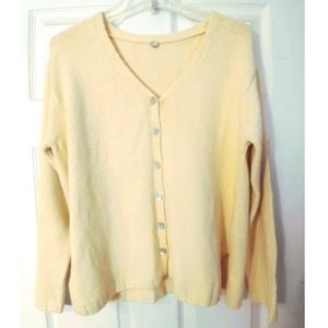 Margaret O'Leary Sweater Yellow Small Cardigan